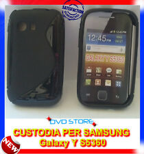 Pellicola+Custodia cover case WAVE NERA per Samsung Galaxy Y S5360
