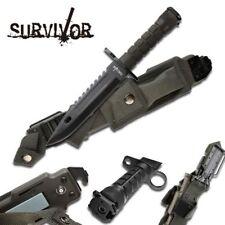 FIXED BLADE KNIFE Mtech Hunting Combat Survival Kit Bayonet Military HK-56142BB