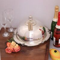 Kensington Cloche with Plate Silver Plated Luxury Handmade Vintage Dome Serving