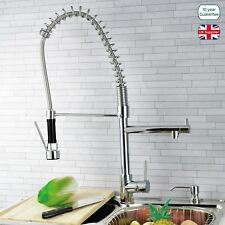 COMMERCIAL MONOBLOC KITCHEN  SINK MIXER TAP CHROME  SPRUNG PULL OUT SPRAY HEAD