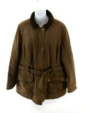 CREW CLOTHING Womens Jacket Coat 16 Brown Cotton