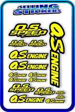 RC AIRCRAFT STICKERS HELI OS ENGINES CAR BUGGY O.S SPEED NITRO PIPE YELLOW BLACK