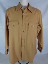 Pendleton Men's Shirt Wool Cowboy Fit Western Pearl Snap Rare 60's Vintage L
