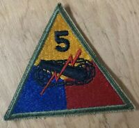 WW2 US Army 5th Armored Division Tank Patch Shoulder
