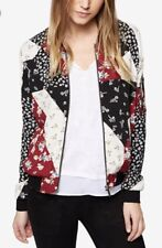 Sanctuary Patchwork Floral Printed Bomber Jacket Multi L NWT $139