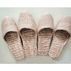 Unisex Natural Straw Woven Slipper Shoe Sandal Flip Flop Handmade Casual S