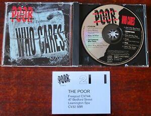 THE POOR WHO CARES CD ALBUM COLUMBIA (1994) AUSTRIA HARD ROCK MINT CD