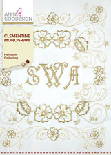 Anita Goodesign Clementine Monogram Embroidery Machine Design CD NEW