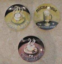"3 Ceramic Collector Plates ""Mocha Java, Caffe Latte, Cappuccino"""