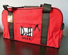 Simpsons Duff Beer Sports bag Duffel Suitcase - New with tags