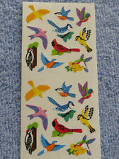 Sandylion BIRDS Strip of 20 Mini Bird Stickers Retired OUT OF PRINT Very Rare