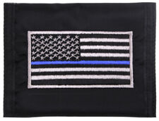 Thin Blue Line Police Wallet Commando Military Style US USA Flag Rothco 10649