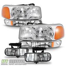 2000-2006 GMC Yukon XL 1999-2002 Sierra 1500 Headlights+Bumper Lamps+Fog Lights