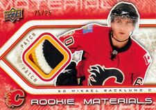 09-10 Upper Deck Rookie Materials PATCH xx/25 Made! Mikael BACKLUND - Flames