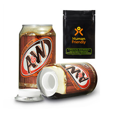 A&W Root Beer Diversion Safe Secret Stash Can w FREE Smell Proof Bag + Shipping