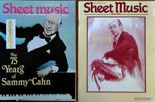 SHEET MUSIC MAGAZINE - SAMMY CAHN  - COVER STORIES  - (2) ISSUES - 1988 & 1993