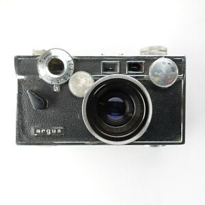 Argus Brick C-3 35mm Rangefinder Film Camera W/ 50mm F3.5 Lens