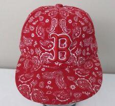 Boston Red Sox Red/White Paisley Pattern Baseball Hat/Cap Size Medium 7