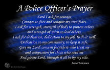 A Police Officer's Prayer Black & Blue 11x17 Poster Buy One Get One Free
