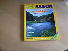 Geo Saison 7/8/2001 Deutschland Die Flüsse  u. a. Themen s. Bild