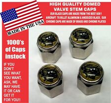 4 Chrome Domed Dodge Plymouth Duster Demon Valve Stem Caps  - No ABS Plastic
