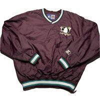 Vintage 90s Starter Men's Size XL Anaheim Ducks Paul Kariya Pullover Jacket #9