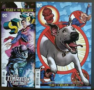 Superman #14 Variant A + B Set Recalled Year of the Villain Error Cover DC 2019