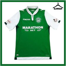 More details for hibernian football shirt macron m medium home soccer jersey hibs 2017 2018 j21