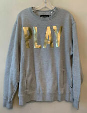 Play Cloths Size XL Mens Gray Pullover Logo Sweatshirt