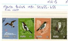 Malta..1981...BIRDS.....Fine Used....SG 655 - 658................MA.13