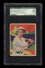 1934-36 National Chicle BB DIAMOND STARS #53 Oscar Melillo Browns SGC 50 VG/EX 4