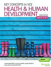 NEW Key Concepts In VCE Health & Human Development Units 3&4 FREE EXPRESS 3rd Ed