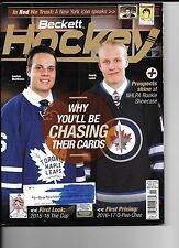 Beckett Hockey price guide November 2016 - Auston Matthews & Patrik Laine cover