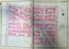 1914 G.W. Bromley Manhattan Harlem Original Map Atlas Eighth Av- Amsterdam 22X36