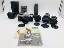 Canon AE-1 Program camera lot  FD 50mm F1.8 / FD135mm F2.8 lens / FD 50mm 1:1.4