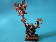 WARHAMMER - DWARF ARMY PAINTED BUGMANS STANDARD METAL OOP MODEL