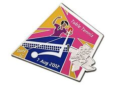 "OFFICIAL LICENSED LONDON 2012 OLYMPIC GAMES PIN / BADGE ""TABLE TENNIS"" DAY #12"