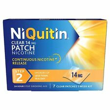 NIQUITIN CLEAR 14MG NICOTINE PATCH STEP 2 - 7 PATCHES *