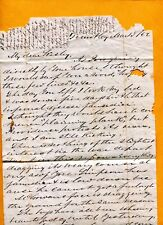 1862 CSA CONFED LETTER M C TAGGART 14TH SC INF CO G TOMOTLEY PLAN BEAUFORT CO SC