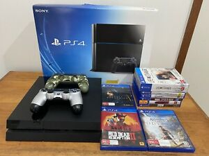 Sony Playstation 4 (PS4) console 500gb, 2 x Controllers plus 9 games