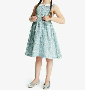 John Lewis & Partners Heirloom Collection Girls' Ditsy Floral Dress / Blue 2 Yrs
