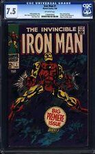 Iron Man 1 CGC 7.5 OW Silver Age Key Marvel Comics 1st Issue own title L@@K IGKC
