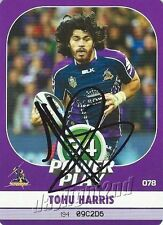 ✺Signed✺ 2015 MELBOURNE STORM NRL Card TOHU HARRIS Power Play
