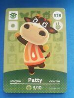 038 Patty Animal Crossing Amiibo Card Single - Series 1 Near Mint US Version