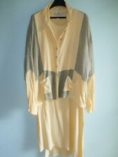 Jules of Morocco Dress & Jacket Set Women OS M L XL Lagenlook Yellow Grey Rayon