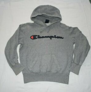 Champion hoodie xs grey boys girls top hoody tracksuit top with defects read