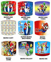 Super Mario Lampshades Ideal To Match Super Mario Duvet & Super Mario Wall Decal