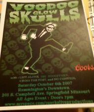 Voodoo Glow Skulls * Rare Concert Flyer Mini Poster *