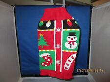 Simply Dog - Red Multi Color Holiday Cardigan Sweater - S - NWT