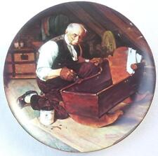 Norman Rockwell Grandpas Gift Plate Golden Moments Limited Edition Collectible